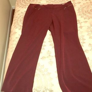 Burgundy slacks